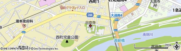 日京寺周辺の地図