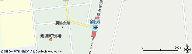 北海道上川郡剣淵町周辺の地図