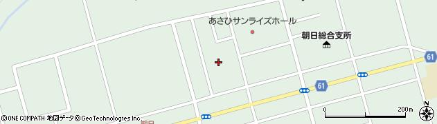 北海道士別市朝日町中央周辺の地図