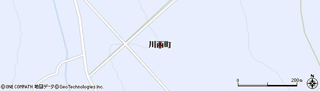 北海道士別市川西町周辺の地図