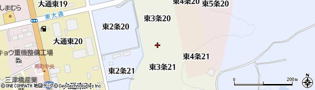 北海道士別市東3条周辺の地図