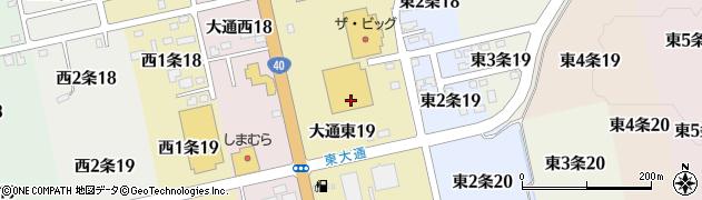 北海道士別市大通東周辺の地図