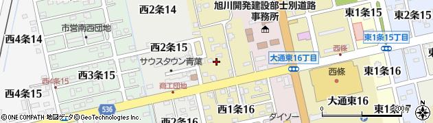 北海道士別市西1条周辺の地図