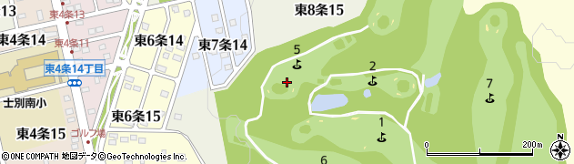 北海道士別市東8条周辺の地図