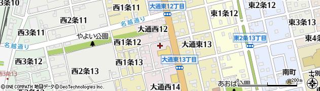北海道士別市大通西周辺の地図