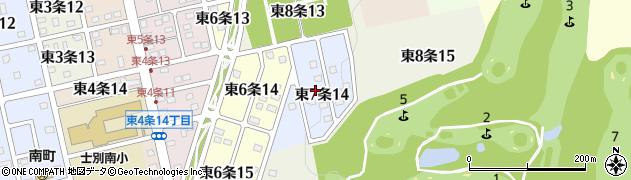 北海道士別市東7条周辺の地図