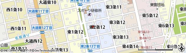 北海道士別市東2条周辺の地図