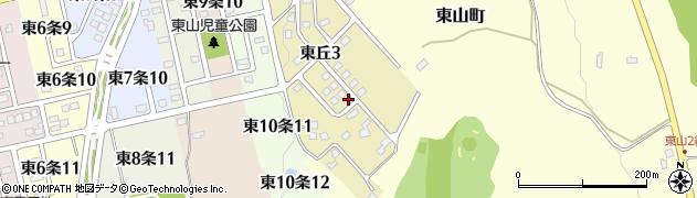 北海道士別市東丘周辺の地図