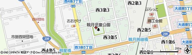 北海道士別市西3条周辺の地図