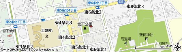北海道士別市東6条北周辺の地図