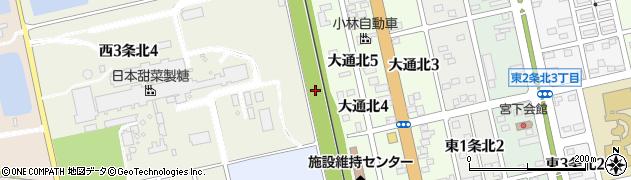 北海道士別市西1条北周辺の地図
