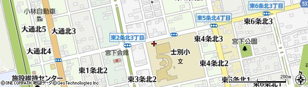 北海道士別市東3条北周辺の地図