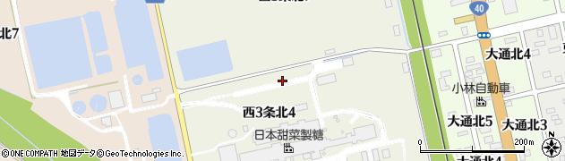 北海道士別市西3条北周辺の地図