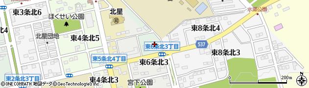 北海道士別市東7条北周辺の地図