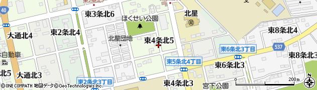 北海道士別市東4条北周辺の地図