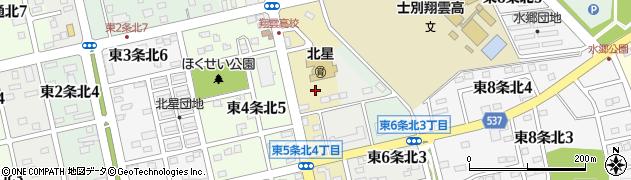 北海道士別市東5条北周辺の地図