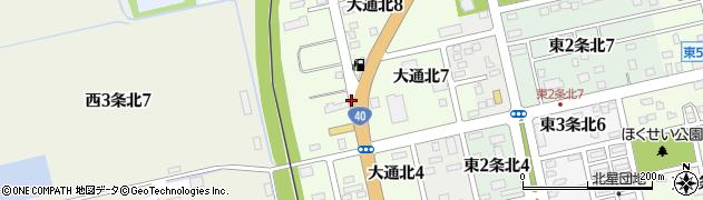 北海道士別市大通北周辺の地図