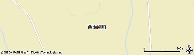 北海道士別市西士別町周辺の地図