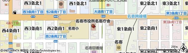 北海道名寄市周辺の地図