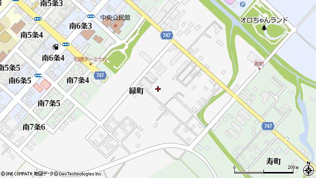 〒078-4130 北海道苫前郡羽幌町緑町の地図