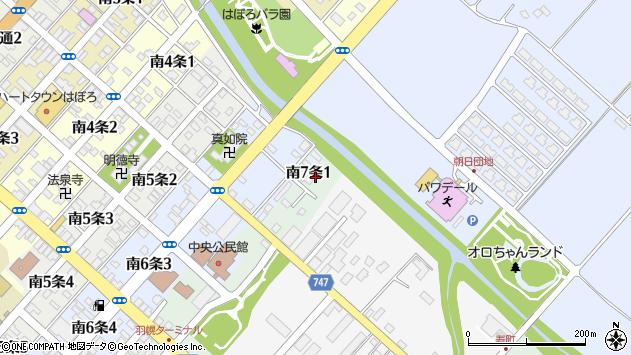 〒078-4107 北海道苫前郡羽幌町南七条の地図