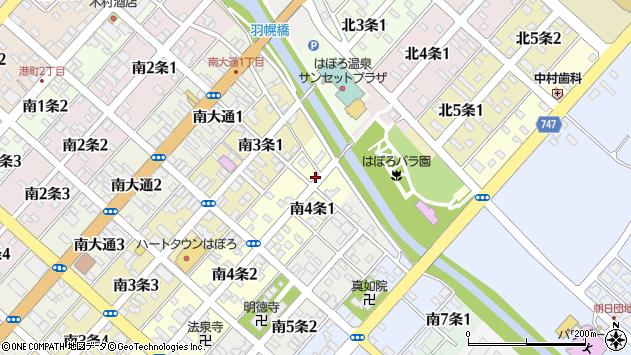 〒078-4104 北海道苫前郡羽幌町南四条の地図