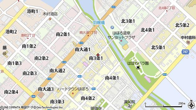 〒078-4103 北海道苫前郡羽幌町南三条の地図