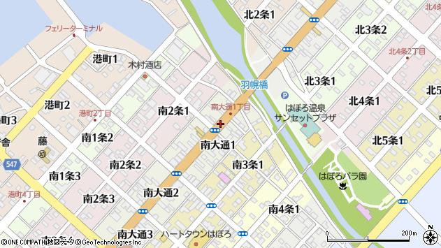 〒078-4108 北海道苫前郡羽幌町南大通の地図