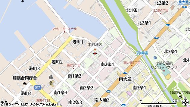 〒078-4101 北海道苫前郡羽幌町南一条の地図