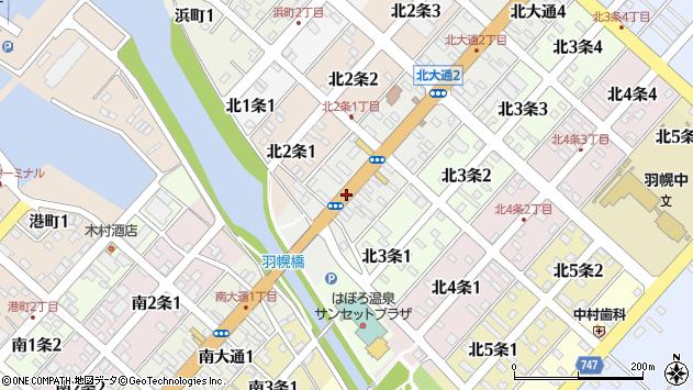 〒078-4110 北海道苫前郡羽幌町北大通の地図