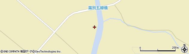 築別五線橋周辺の地図