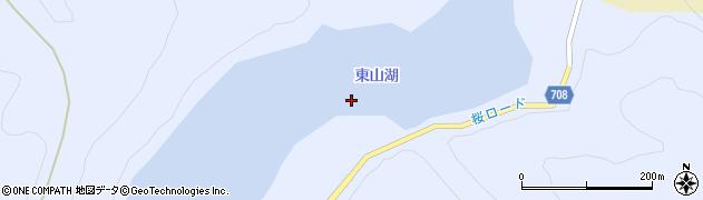 東山湖周辺の地図
