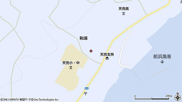 〒078-3953 北海道苫前郡羽幌町天売和浦の地図