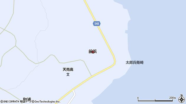 〒078-3954 北海道苫前郡羽幌町天売前浜の地図