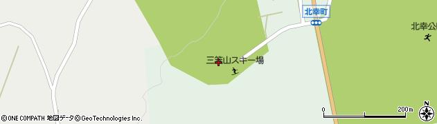 枝幸町三笠山スキー場周辺の地図