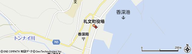 北海道礼文町(礼文郡)香深村(トンナイ)周辺の地図
