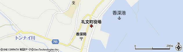 北海道礼文郡礼文町周辺の地図