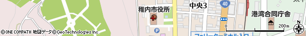北海道稚内市周辺の地図
