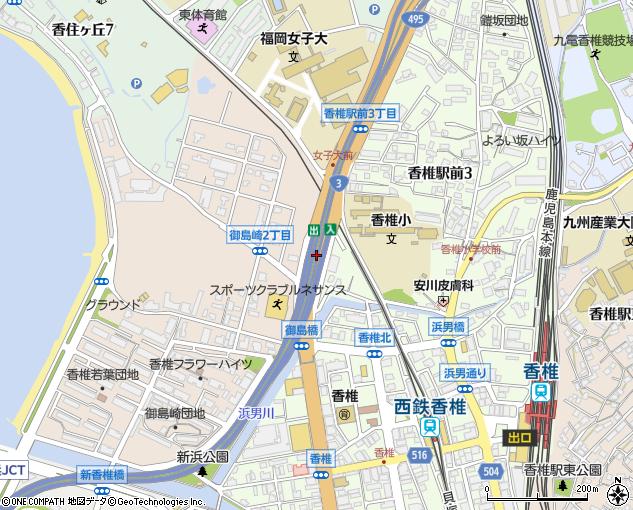 香椎出入口(福岡市/首都高速・都市高速出入口)の住所・地図 ...