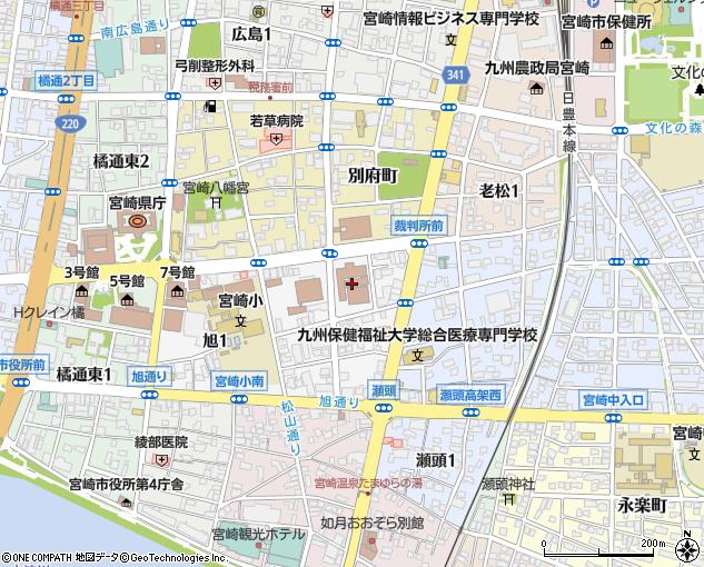 宮崎地方裁判所(宮崎市/裁判所)の電話番号・住所・地図 マピオン電話帳