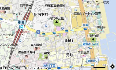 別府停車場線(別府市/道路名)の住所・地図|マピオン電話帳