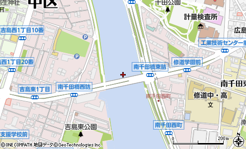 南千田橋(広島市/橋・トンネル)の住所・地図|マピオン電話帳