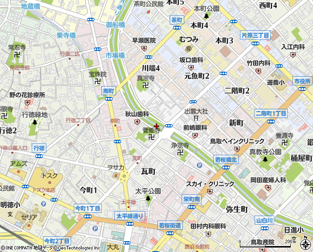 智頭橋(鳥取市/橋・トンネル)の住所・地図|マピオン電話帳