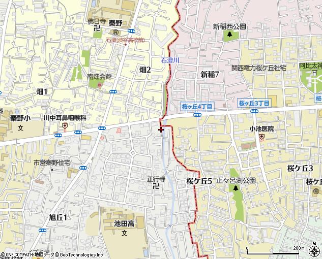 石澄川橋(池田市/橋・トンネル)の住所・地図|マピオン電話帳