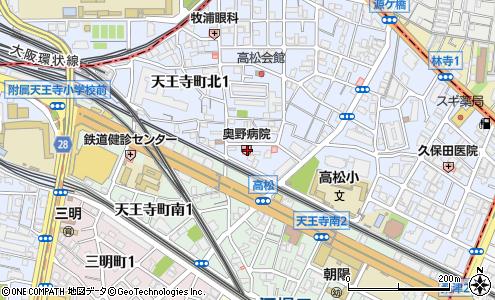 奥野病院(大阪市/医療・福祉施設)の住所・地図|マピオン電話帳