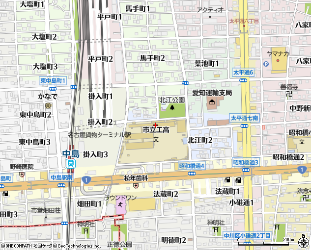 名古屋市立工業高校(名古屋市/高校)の地図・住所・電話番号 ...