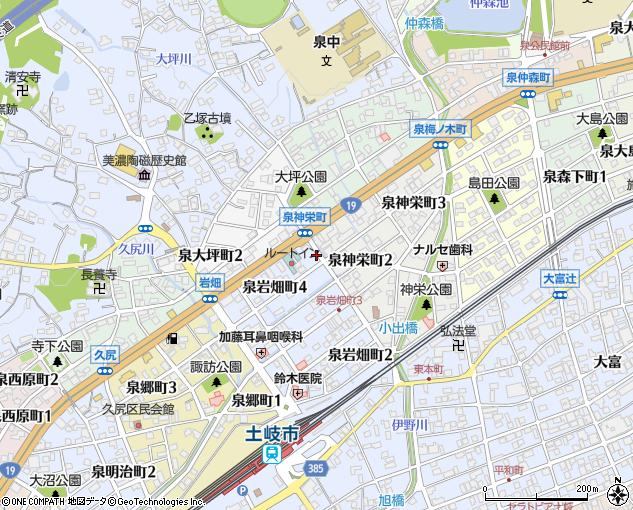 東鉄タクシー土岐配車センター(土岐市/タクシー)の地図 ...