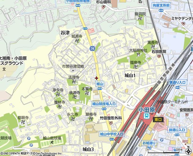 城山薬局(小田原市/ドラッグストア・調剤薬局)の地図・住所 ...