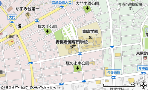 東京都立青梅看護専門学校青梅市その他学校教室の地図