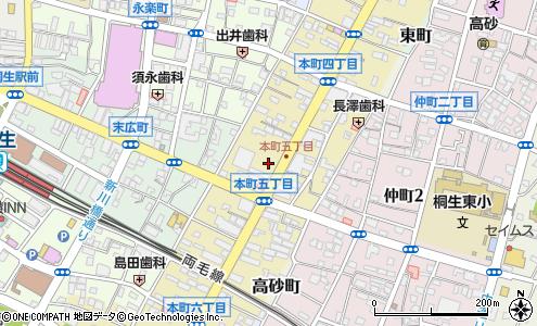 群馬銀行桐生支店桐生市銀行atmの地図住所電話番号